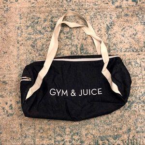 Gym & juice duffel bag